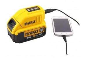 Адаптор за акумулаторна батерия USB 5 V, 10.8-18 V, DeWALT DCB090