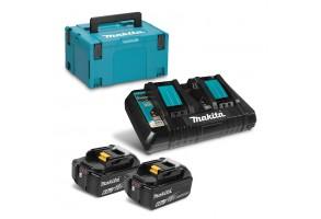 Батерия Li-Ion комплект за електроинструменти със зарядно 18.0 V. 6.0 Ah, Makita BL1860 Set