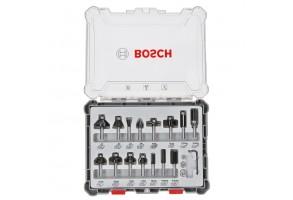 Фрезер за дърво профилен Bosch, ф 8 мм, 15 бр.