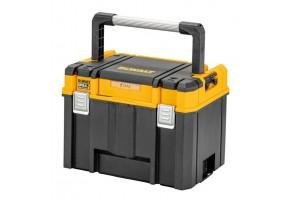 Куфар за инструменти пластмасов 440х333х323 мм, черен, DeWALT TSTACK IP54